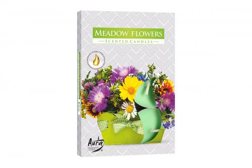 Lumanari parfumate pastila 4h (6buc.) Meadow Flowers (Flori de Lunca)