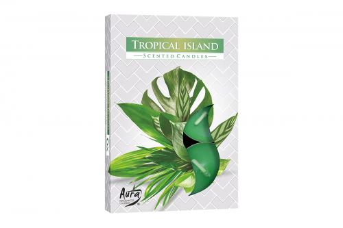 Lumanari parfumate pastila 4h (6buc.) Tropical Island (Insula Tropicala)