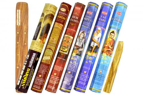 Set betisoare parfumate Esente Indiene si lemn Palo Santo