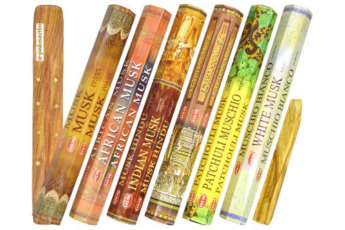 Set betisoare parfumate Mosc si lemn Palo Santo