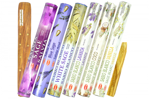 Set betisoare parfumate Salvie Mix si lemn Palo Santo