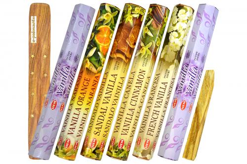 Set betisoare parfumate Vanilie si lemn Palo Santo